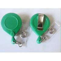 China ABS Custom Yoyo Id Card Holder , Round Retractable Badge Reels With BSCI on sale