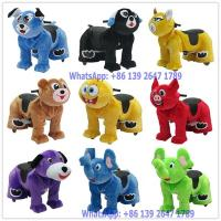 China Outdoor Playground Battery Coin Operated Electric Plush Animal Rides For Kids and Parent on sale