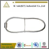 China rigging wire rope sling  stainles steel wire rope sling with ferrule and iron wire made in china on sale