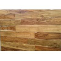 China Durable solid T& G hand scraped acacia hardwood flooring on sale