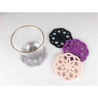 China Flower Shape Thick Felt Coasters Potholder Naturally Water Absorbent on sale