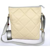 Lady Style 100% Leateher Cream-Colored Shoulder Messenger Bag Purse #3046T  Manufactures