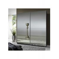 Full Mirror High Gloss Bedroom Furniture 2.3 Meter Height Contemporary Sliding Wardrobe Manufactures