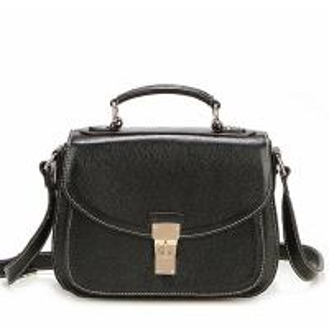 Black Leather Handbags for women L331