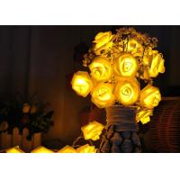China Red / Warm White Battery Operated LED String Lights , Rose Flower String Lights on sale