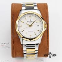 Perfect Replica Patek Philippe White Index Dial Yellow Gold Bezel 2-Tone Oyster Band 39mm Watch Manufactures