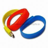 Fashionable Bracelet USB Flash Drives, Compatible for PC or Notebook, with USB Interface Manufactures