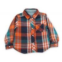 100% cotton Yarn Dyed flannel kids long sleeve plaid shirts, designer childrens clothes Manufactures