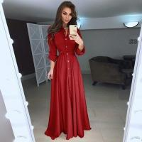 2018 Autumn and Winter Women Long Dress Casual Long Sleeve Slim Dress Ladies