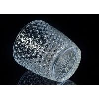 christmas deco embossed nail design glass candle holders Manufactures