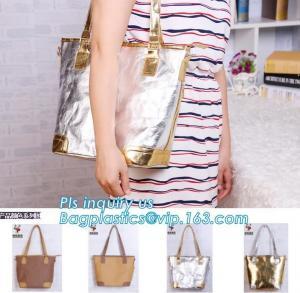 PU coated tyvek bag, TYVEK Shopping bag, Custom 105g Tyvek tote Bag for Lady, Durable washed paper bag tyvek tote shoppi Manufactures