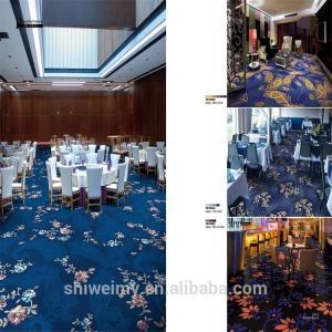 China China stock beautiful printed blue wall to wall nylon carpet on sale