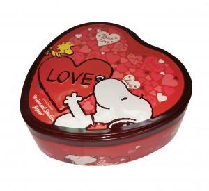 China Iron Heart Shaped Tin Box Storage Card Case Steel Electro Coated For Decoration on sale