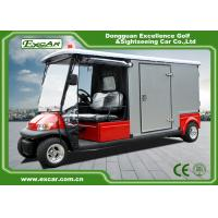 Red 2 Seater 48v Electric Ambulance Vehicle For Park 1 Year Warranty Manufactures