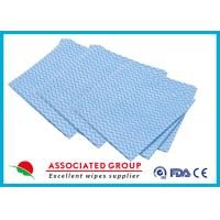 Quality Printing Non Woven Cleaning Wipes Spunlace Cross Lapping 100% Cotton Folded for sale