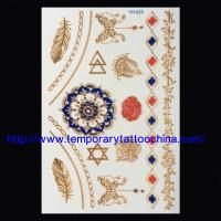 China flash foil printed gold silver temporary body tattoo on sale