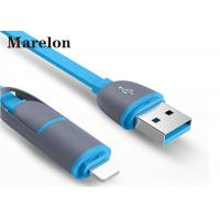 China Micro Sync Charge Cable 8 Pin 2 In 1 Abrasion Resistant For IPhone 5 6 6s 7 7plus on sale
