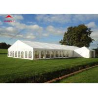 China 300 Seater Outdoor Event Tent With Transparent PVC Window / Large Garden Wedding Tent on sale