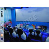 Customized 5D Movie Theater Equipment With Bubble / Smog Special Effects Manufactures