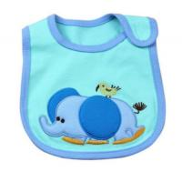 China Washable Blue Elephent Custom Baby Bibs Disposable Feeding Bibs on sale