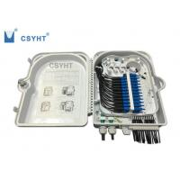 24FO fiber optic termination  FTTH box for outdoor pole mounted loaded PLC splitter Manufactures