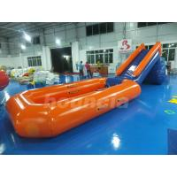0.6mm PVC Tarpaulin Inflatable Water Slide With Pool For Water Park Manufactures