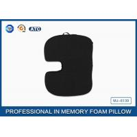 Black Orthpedic Polyurethane Memory Foam Seat Cushion With Handcarry Non-slip Cover Manufactures