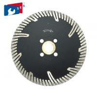 Turbo 10 Inch Circular Saw Blade Diamond Edge For Cutting Granite Asphalt Concrete Manufactures
