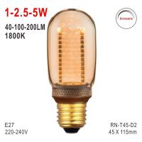 Buy cheap T45 Bulb, LED Deco Bulb, E27 Bulb, Fashionable Glass Bulb, Warm White LED Candle, Dimmable Bulb from wholesalers
