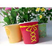 21oz 1000ml Flower Paper Pot Flexo Print Double PE Coated For Potted Plant Manufactures