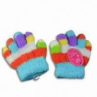 Children's Gloves, Made of 100% Wool, Customized Designs are Accepted, Available in Colorful Designs Manufactures