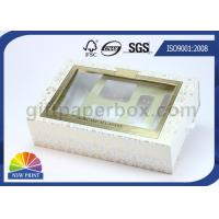 Drawer Window Paper Gift Box with Blister Tray , Cosmetic Packaging Boxes Environmentally Friendly Manufactures