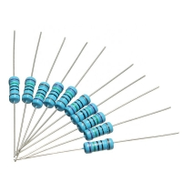 China 1/8W 1/6W 1/4W 1W 1WS  Precision Metal Film Fixed Resistors for Electronic Components on sale