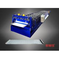 China Steel Roof Panel Roll Forming Machine , High Speed Metal Roofing Machine on sale