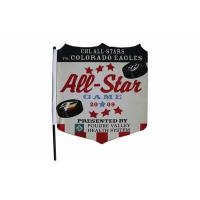 Double Sided Knitted Polyester Fabric Flag Banner Printing Hooks Onto Car Window Manufactures