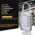 Multi Color Optional Luggage Combination Padlock , Custom Logo Gymnasium Password Lock Manufactures