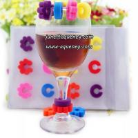 China Promotional gift silicone wine glass mark for Christmas decoration on sale