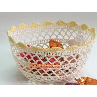 Handmade Craft Stiffened Cotton Crochet Home Decorative Candy Basket Baby Photo Prop Manufactures