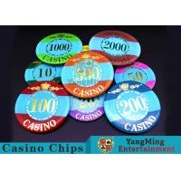 Mini Engraved Customizable Casino Poker Chips For Entertainment Venues Games Manufactures