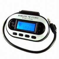 China FM Radio Transmitter Car Kit with 3.5mm Connector, LCD Display, Supports 200 FM Stations on sale