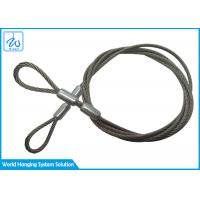 China SGS Extension Spring Safety Cable 3mm Stainless Steel Wire Rope With Loop End on sale
