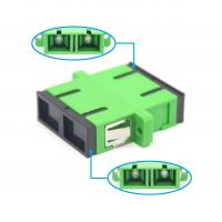 China Fiber Optic SC APC Duplex Adapter For FTTH Fiber Connection High Return Loss on sale