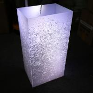 Custom Romatic Milky White Acrylic Lamp Shade for LED Lighting Manufactures