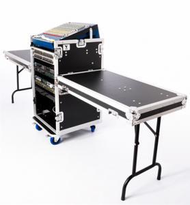 12U Black Anti-Shock Rack Aluminum Tool Cases Wheels For DJ Manufactures