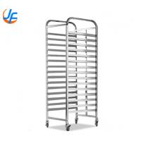 Sliver 32 Trays Baking Tray Trolley / Gastronorm Food Trolley For Manufacture Manufactures