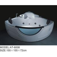 White color Air Bubble Bathtubs Quadrant Shape massage tubs 155 x 155 X 72 Manufactures