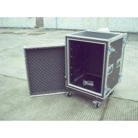 16u Rack Flight Case, Aluminum With Good Wood, Black Color For Audio And Light Manufactures