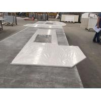 Prefabricated Solid Quartz Stone Countertops Beveled Processed Edge Manufactures