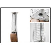 Stainless Steel Outdoor Gas Patio Heater Triangle Pyramid Patio Heater Remote Controlled Manufactures