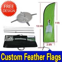 Teardrop / Feather Flags Banner With 2.3kg Cross Base + Water Bag Manufactures